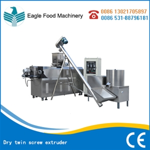Dry twin screw extruder