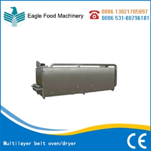Multilayer belt oven/dryer